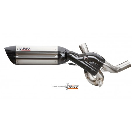 Mivv Suono Stainless Steel Exhaust Multistrada 1200 2015-2017