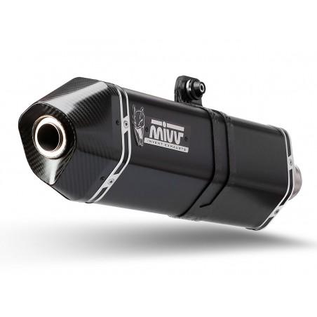 Mivv Speed Edge Εξάτμιση Xciting 400 2013-2016 Steel Black