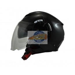 Κράνος STR Tron Μαύρο Jet...